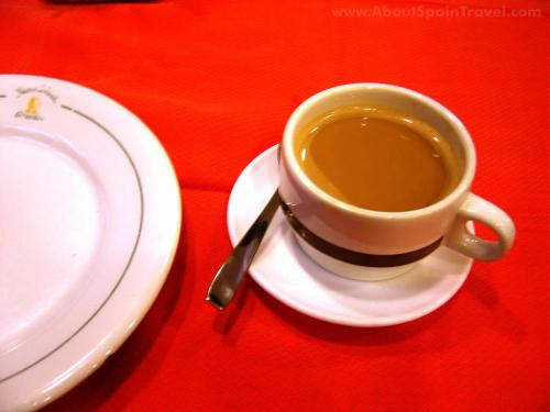 cafe con leche - coffee in Spain