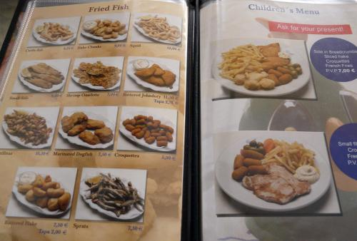 english seafood menu
