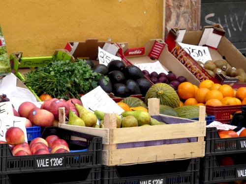 Spain Malaga fruit stand