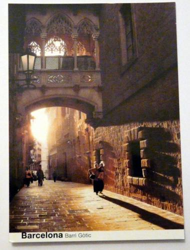 barri gotic postcard