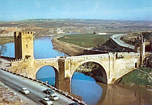 Toledo Spain bridge postcard