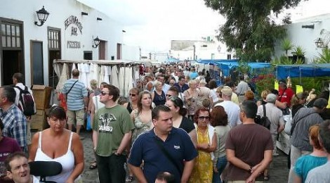 Shopping at Teguise Market in Lanzarote in the Canary Islands