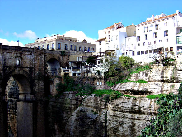The famous bridge of Ronda, Spain