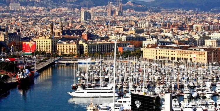 Barcelona harbor marina