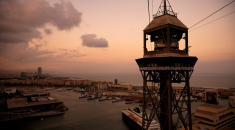 Barcelona harbor photo