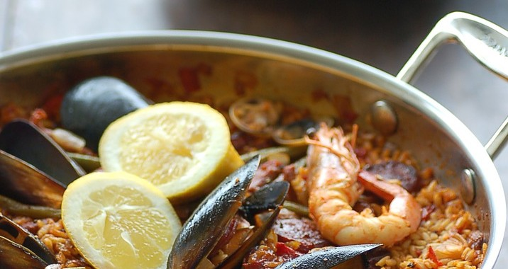paella in Spain