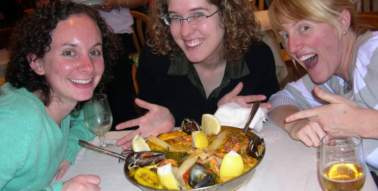 You have to try paella in Spain!