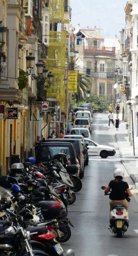Spain photography tips: mopeds in Spain