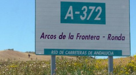 Driving on Andalucia Highway A-372