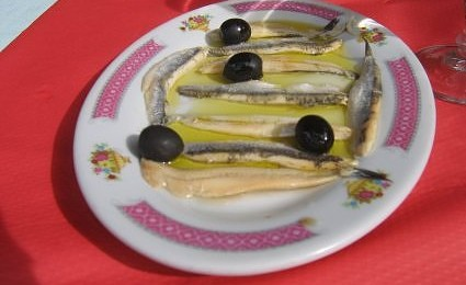 "What's that Spain food? ""Boquerones"""