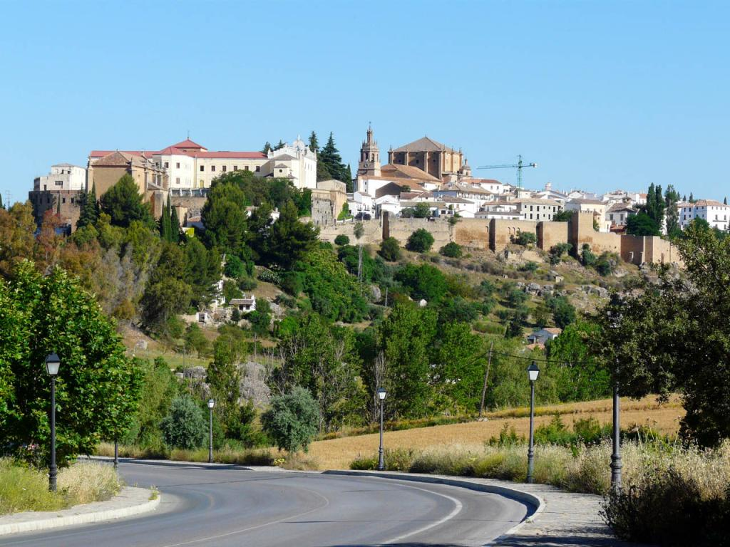 Ronda, Spain old city skyline